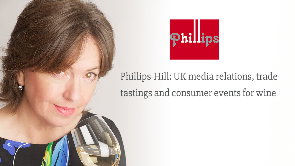 Phillips-Hill: UK media relations, trade tastings and consumer events for wine